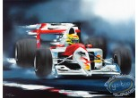 Lithographie, Illustrateur : Ayrton Senna