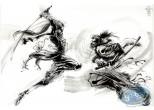 Originaux, Dessin original - Combat