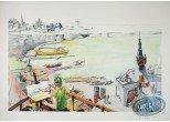 Affiche Offset, Peintre en bord de mer