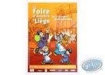 Affiche Offset, Affiche publicitaire 'La Foire d'Octobre de Liège' par Walthéry (Grand format)