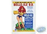 Affiche Offset, Affiche publicitaire 'Belle-Ile B.D 2008' par Walthéry (Grand format)