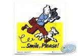 Autocollant, Tintin : Autocollant publicitaire Smile Please Tintin - Jaune