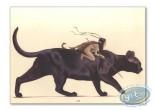 Affiche Offset, Féerie : Elfe sur chat