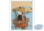 Affiche Offset, Plume aux Vents : Ariane sur un bateau