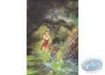 Ex-libris Offset, Semio : Marchant dans l'eau