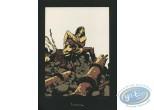Ex-libris Sérigraphie, Terres d'Ombre : Combat