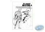 Affiche Sérigraphie, Ric Hochet : Mystère à Porquerolle (n&b)
