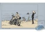 Ex-libris Sérigraphie, Largo Winch : Moto sur la plage
