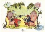 Ex-libris Offset, Fontaine aux Fables (La) : Le Renard et la Cigogne