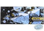 Plaque émaillée, Valérian : L'Empire des mille planètes, Vaisseaux dans l'espace