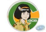 Autocollant, Yoko Tsuno : Sticker autocollant Le sourire de Yoko Tsuno