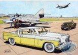 Aquarelle, Buck Danny : Studebaker 57 jaune