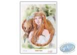 Ex-libris Offset, Okhéania : Jeune fille et animal