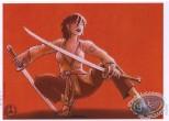 Ex-libris Offset, Bakemono : Femme avec katanas