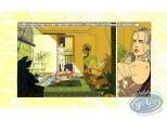 Affiche Sérigraphie, Femme sur la véranda