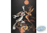Affiche Offset, Looney Tunes (Les) : Looney basket 60X80 cm