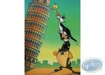 Affiche Offset, Looney Tunes (Les) : La tour de Pise 30X40 cm