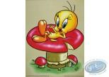 Affiche Offset, Titi : Titi sur un champignon 30X40 cm