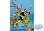 Affiche Offset, Looney Tunes (Les) : La partie de pêche 30X40 cm