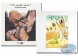 Livre, BD en 33 Tours : BD en 33 tours + ex-libris Dany + ex-libris Roels aquarellé