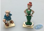 Figurine métal, Astérix : Agecanonix et sa femme