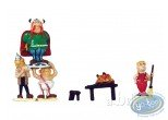 Figurine métal, Astérix : Mini village : Abraracourcix