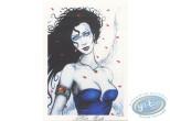 Ex-libris Offset, Fa-Seiryu : Femme au bustier bleu
