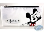 Bagagerie, Mickey Mouse : Trousse rectangulaire Mickey blanche, Disney