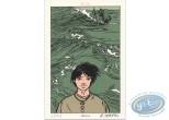 Ex-libris Sérigraphie, Coeur en Islande (Le) : Moïse