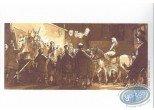Ex-libris Offset, John Arthur Livingstone : Troupe de théâtre et femme a cheval