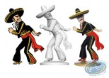 Statuette résine, Tintin : Alcazar lanceur de couteau, Les 7 boules de cristal Page 10 + album