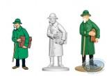 Statuette résine, Tintin : Bazil Bazaroff le marchand d'armes, L'oreille cassée Page 35 + album