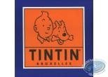 Autocollant, Tintin : Autocollant publicitaire Tintin Bruxelles