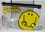 Bagagerie, Monsieur et Madame : Trousse vinyle, Mr Happy (jaune/transparente)