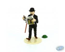 Dupond lit Tintin + le chapeau de Tournesol, Collection 'Lisez Tintin!' (Série limitée)