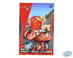 5 badges Cars, Disney