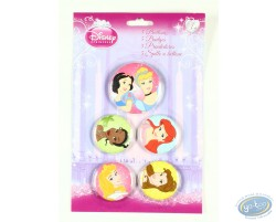 5 badges de princesses, Disney