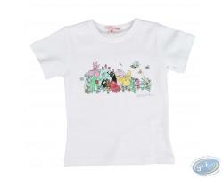 T-shirt manches courtes blanc Barbapapa pour enfant : taille 92/98, famille