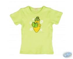 T-shirt manches courtes vert Barbapapa pour enfant : taille 104/110, livre
