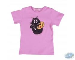 T-shirt manches courtes lilas Barbapapa pour enfant : taille 92/98, peintre
