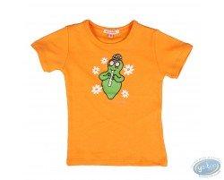 T-shirt manches courtes orange Barbapapa pour enfant : taille 104/110, flûte
