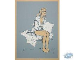 Ariane assise sur un lit
