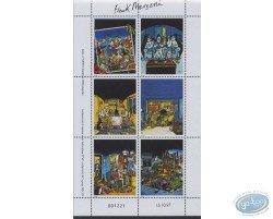 Planche de 6 timbres, Lucien