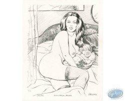 Femme au lit