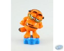 Garfield sur une balance, I start my diet tomorrow !
