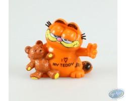 Garfield avec un nounours, I love my teddy !