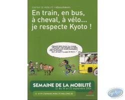 Carte publicitaire, La semaine de la mobilité 2004 avec Gaston Lagaffe