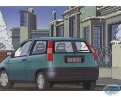 Carte publicitaire, Fiat Punto par Goffin