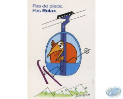 Carte publicitaire, Shadock pour Peugeot, 'Pas de place, pas relax'