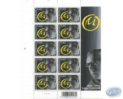 Planche de 10 timbres, Blake et Mortimer